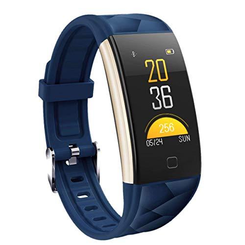 BKAUK T20 Smart Sport Armband Fitness Tracker HD Kleur Scherm Hartslag Bloeddruk Monitor Vermoeidheid Slapen Monitor Afstandsbediening Camera IP67 Waterdicht voor ndroid (wit)