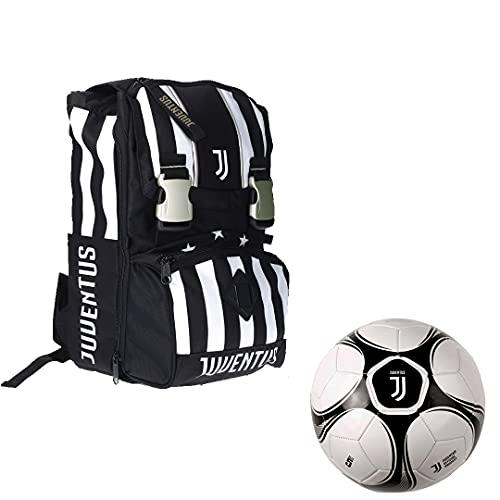 JUVE Juventus Zaino Sdoppabile Big - Collezione Scuola 2021/2022-100% Originale - 100% Prodotto Ufficiale - con Pallone Omaggio
