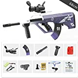 Pistolas de Agua infrarroja Pistola Juguetes para niños Rifle de plástico Soft Paintball CS Juegos Outdoor Kids Weapon AUG Toy Guns,Azul