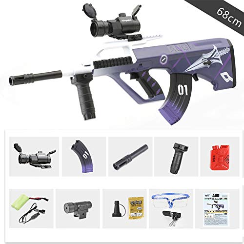 Infrared Water Bullets Gun Toys For Boys Plastic Rifle Soft Paintball CS Games Outdoor Kids Weapon AUG Toy Guns,Blue