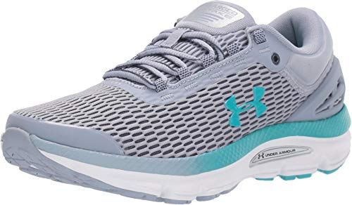 Under Armour Women's Charged Intake 3 Running Shoe, Blue Heights (400)/Downpour Gray, 7.5
