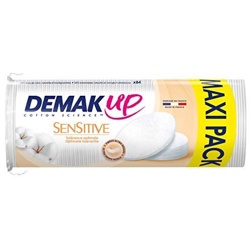 Demak'Up Sensitive - Coton à démaquiller Ovale - lot de 4 paquets de 64 cotons