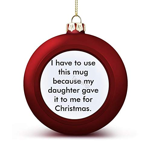 3 Inch Christmas Ornament, Best Daughter Xmas Ornaments, Keepsake Gift Memorial Peace & Happiness Christmas Decorations