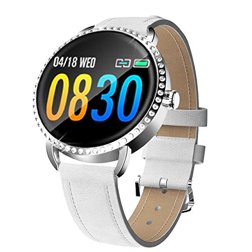 JLFDHR Intelligente Uhr Damen Intelligente Uhr DamenBlutdruckPulsmesserFitness Tracker...