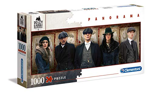 Clementoni - 39567 - High Quality Collection Puzzle Panorama - Peaky Blinders - 1000 Pezzi - Made In Italy - Puzzle Adulti - Puzzle Netflix - Puzzle Serie Tv
