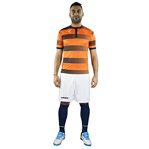 Legea KIT EDIMBURGO Football Set Trikot UND Short (Arancio-Nero, M)
