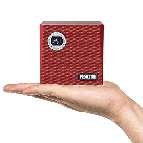 MUDEREK Mini proyector Android de procesamiento de luz digital, proyector de vídeo portátil LED, WiFi Bluetooth 4.0 Home Cinema Beamer Soporte Miracast Airplay