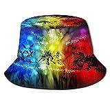 Sombrero para el Sol Digimon Adventure Fisherman's Hat - Protección Ultravioleta y Transpirable Gorra de Cubo de ala Ancha para Outdoor-OX
