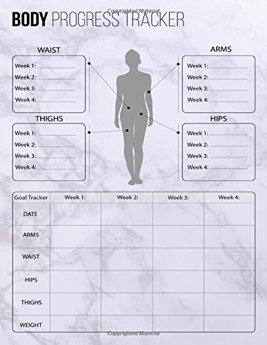 Body Progress Tracker: Keep Track Of Progress Notebook, Record Weight Loss For Diet, Gift, Women & Men Journal, Book, Size 8.5