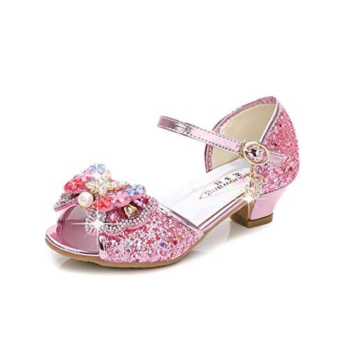 YOSICIL Zapatos de Tango Latino Nia Zapatos de Tacn Altode Princesa Lentejuelas Zapatos de Baile Sandalias Arco Zapatilla de Ballet de Vestir Fiesta para Boda Playa 6 a 13Aos Azul EU26-38