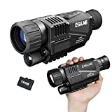 """ESSLNB Night Vision Monocular 5X40 Night Vision Infrared Monocular with 1.5"""" TFT LCD Take Photos and Videos Playback Function 16G TF Card Digital Night Vision Scopes for Hunting Security Surveilla"""