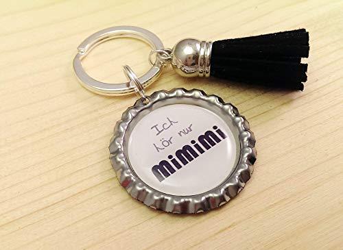 Schlüsselanhänger Kronkorken – Ich hör nur mimimi & Samt Quaste/Tassel – Individualisierbar - Handmade - Geschenk