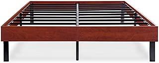 Ecos Living 14 Inch Platform Bed Frame/Steel Slat Non-Slip Support (Cherry Brown, Full)