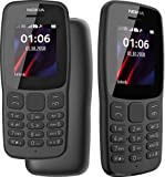 Nokia 106 Dual Sim 2018 Dark Grey With LED Torch - FM Radio