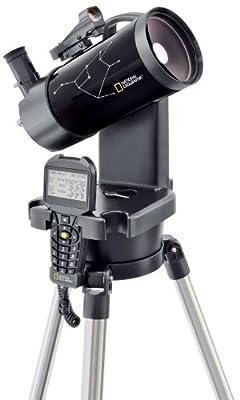 Télescope Maksutov-Cassegrain contrôlé par ordinateur pour des débutants Diamètre de l'objectif: 90mm / Distance focale: 1250mm Monture: azimutale système motorisé GoTo pour le suivi automatique des objets célestes Grossissement: 50x/100x (avec l'acc...