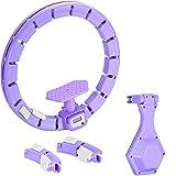 Hula Hoop Inteligente, aro Giratorio automático, Masaje de neumáticos de Fitness, Anillo de Yoga de Masaje ABS extraíble, Adecuado para máquinas de Ejercicios Abdominales y de Cintura-púrpura