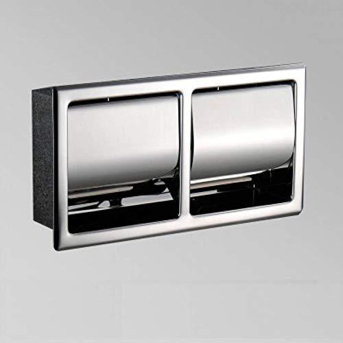 LCBLC 304 Edelstahl Poliert Wandeinbau Einbau Toilettenpapierhalter Public Hotel Verdeckte Rollenware