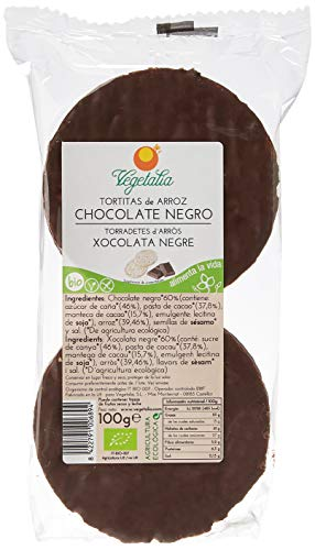 Vegetalia, Tortita de Maíz (Chocolate negro) - 12 de 100 gr. (Total 12000 gr.)