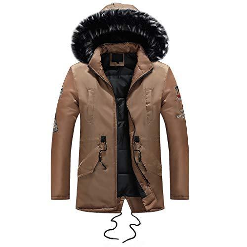 Tosonse Mantel Herren Winter Langarm Tasche Pelzkragen Outwear Regenjacke Mantel Plus Size