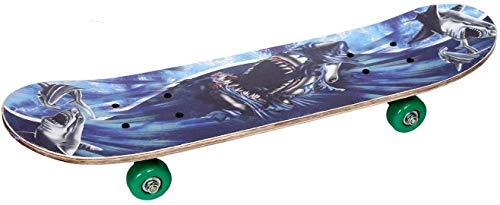 Maha Laxmi Wooden Skateboard Bikes Running Playing Skate Board for Kid's (Small, Design-1)