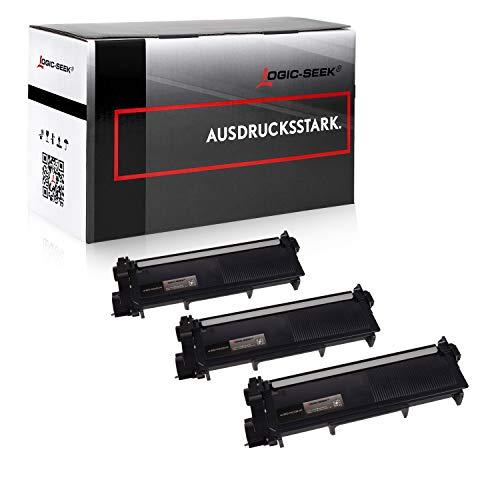 Logic-Seek 3 Toner kompatibel für Brother TN-2320 XL HL-L2340DW HL-L2360DN DCP-2500 2520 2540 2560 2700 Series D DW DN HL-2300 2320 2365 2380 Series D DW DN MFC-2700 2703 2720 2740 Series DW CW