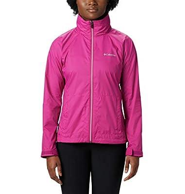 Columbia Women's Switchback III Adjustable Waterproof Rain Jacket, Fuchsia, Small