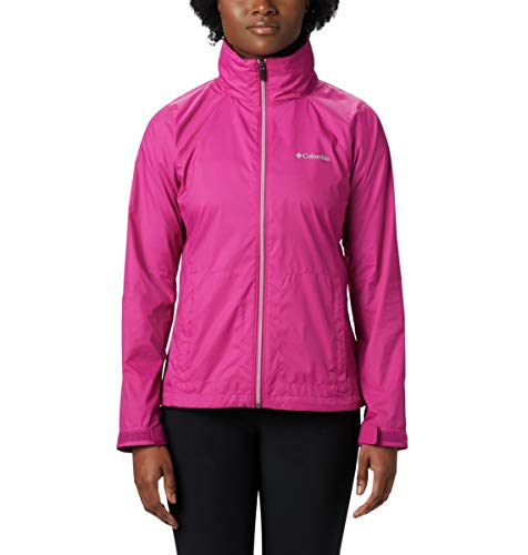 Columbia Women's Switchback III Adjustable Waterproof Rain Jacket, Fuchsia, X-Large