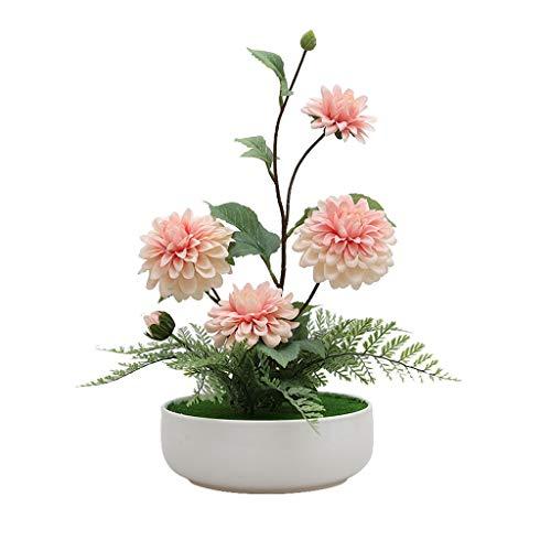 NYKK Künstliche Blume Moderne Minimalist Pelargonium Simulation Floral Set, Haus Wohnzimmer-Dekoration Gefälschte Blume Bonsai Dekoration, künstliche Blumentopf Ewige Blume