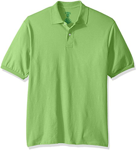 Jerzees Men's Spot Shield Short Sleeve Polo Sport Shirt, Kiwi, Medium