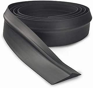 BOWSEN Garage Door Threshold Seal Bottom Weatherproof Floor Buffer Rubber, Not Include Sealant/Adhesive, Black (16 FT)