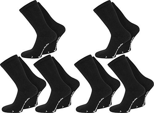 3 oder 6 Paar Extra breite Socken ohne Gummi - auch für Diabetiker geeignet Farbe 6 Paar Schwarz Größe 43/46
