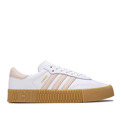adidas Originals Sambarose - Zapatillas deportivas para mujer, color blanco, 41 1/3 EU