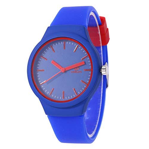 SANDA Relojes De Pulsera,Las Nuevas señoras Calientes de la Venta Forman el Reloj del silicón en el Reloj de la Pulsera-Azul