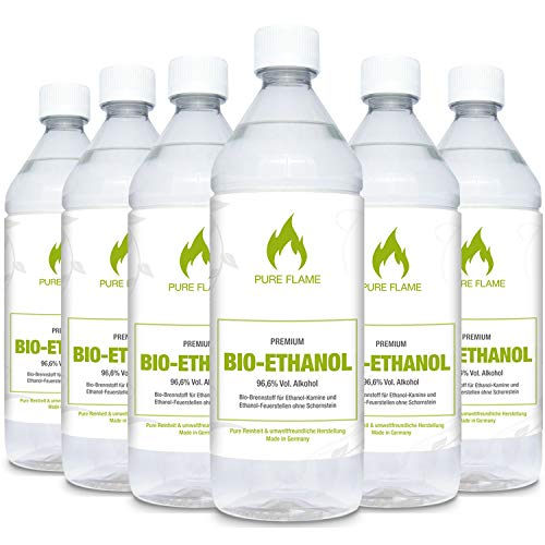 Pure Flame Premium Bioethanol Bioethanol 96,6 – 6x1L Bild