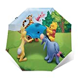 Kompakter Trifold Travel Anti-UV-Regenschirm mit automatischem Öffnen/Schließen, winddichter,...