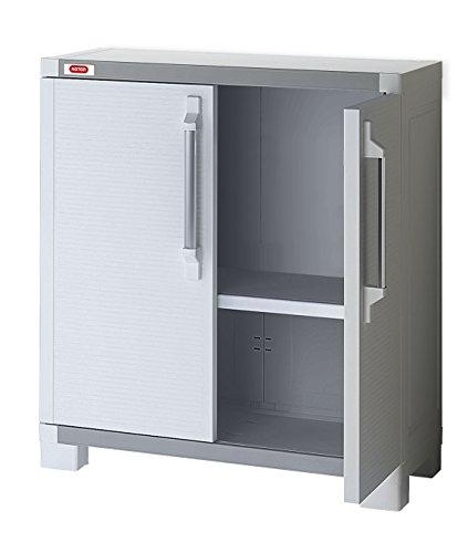KETER 17199342 XL Pro Utility Base Cabinet – White, 88x45x99.5 cm