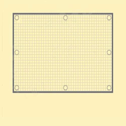 Voile d'ombrage carrée Pare-soleil for jardin extérieur UV Protection contre le soleil respirant Perméable HDPE (Color : Square buttonhole, Size : 2x3m)