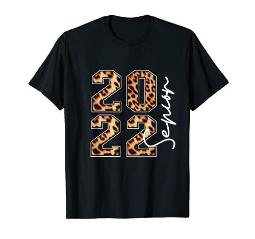 Senior 2022 Class of 2022 Girls Leopard Print Seniors T-Shirt