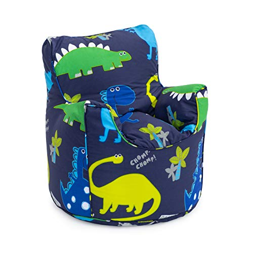 Ready Steady Bed Kids Toddler Armchair | Comfy Children Furniture | Soft Child Safe Seat Playroom Sofa | Ergonomically Designed Bean Bag Chair (Dinosaurs)