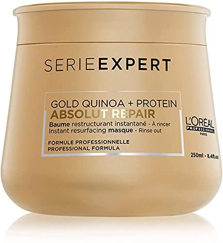 L Oréal Professionnel Paris | Maschera professionale per capelli secchi e danneggiati Absolut Repair Serie Expert, Formula ristrutturante, 250 ml