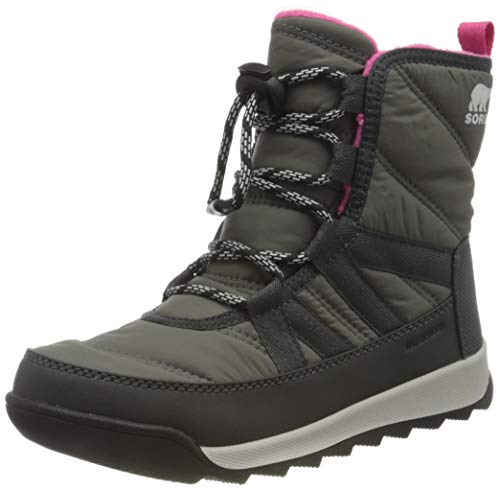 Sorel Youth Whitney II Short Lace Boot for Snow - Waterproof - Quarry - Size 7