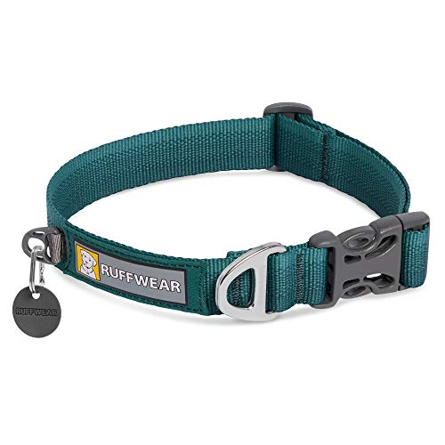 """RUFFWEAR, Front Range Dog Collar, Durable and Comfortable Collar for Everyday Use, Tumalo Teal, 14""""-20"""""""