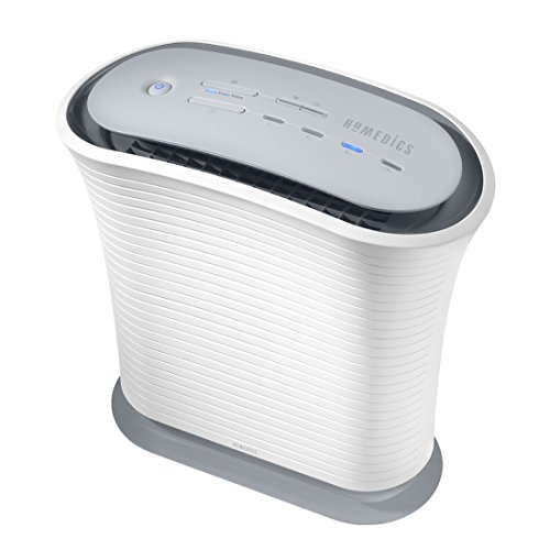 Homedics totalclean verdadero ventilador hepa purificador de aire para habitaciones medianas.