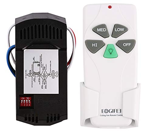 Eogifee Universal Ceiling Fan Remote Control and Receiver Kit Replacement of Hampton Bay Harbor Breeze Hunter KUJCE9103 FAN-11T FAN-53T 2AAZPFAN-53T Kit