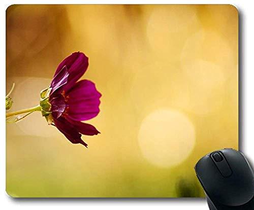 Alfombrilla de ratón de Oficina 30 * 25 * 0.3 cm Ambiente de Flor de floración Hermoso Tema de Flores Naturales con Bordes cosidos para el hogar y la Oficina Antideslizante