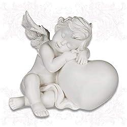 mtb more energy Deko Engelchen ''Sleeping Angel'' - Engel Schutzengel Engelsfigur Cherubinchen - Höhe 12 cm - Dekoration Figur Babyengel