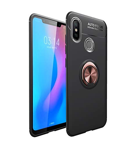 Carcasa de telefono Funda protectora para Xiaomi MI 6x / MI A2 TPU Soft TPU Funda a prueba de golpes 360 grados Rotación Metal Anillo Magnético Kickstand DISIPACIÓN DE CALOR DISIPACIÓN DE CAÍDA PROTEC