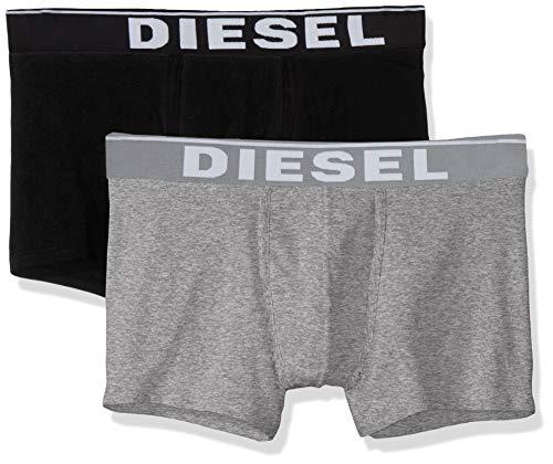 Diesel Herren UMBX-DAMIENTWOPACK Boxer Brief 2 Pack Slip, schwarz/grau, Medium