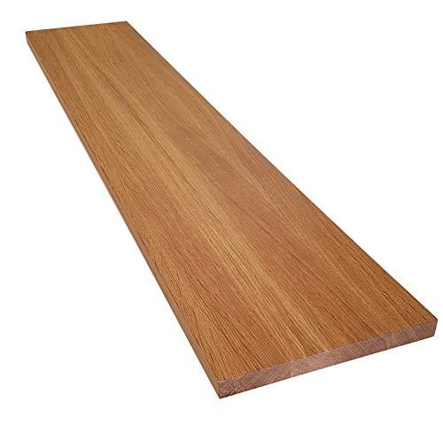 Holz-Projekt-Summer Treppenstufe Eiche Massivholz Stärke: 19mm / Renovierungsstufe Trittstufe Fensterbank Maßanfertigung (25 x 160cm, Oberfläche unbehandelt)