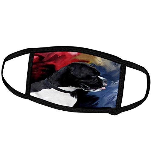 Hunde Boxer-Schwarz Weiß Boxer-Gesicht Schal